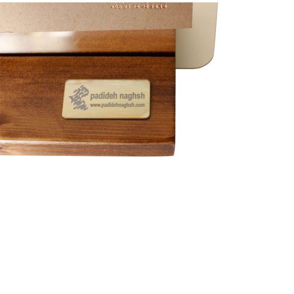 تقویم رومیزی چوبی مدل پلکسی 3