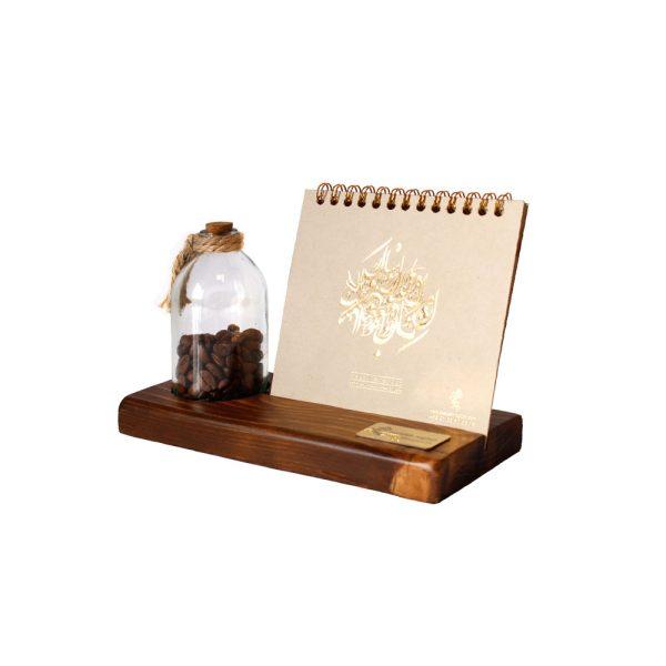 تقویم رومیزی چوبی همراه با رایحه قهوه 2