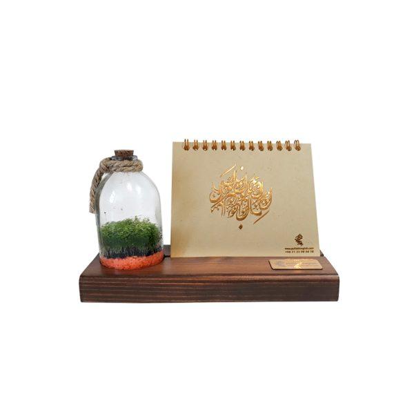 تقویم رومیزی چوبی همراه با رایحه گیاه طبیعی 1