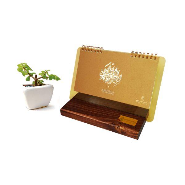 تقویم رومیزی چوبی مدل پلکسی 1