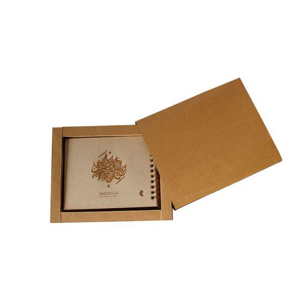 تقویم رومیزی چوبی مدل flower craft 3