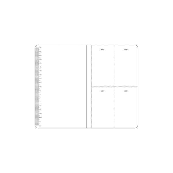 خط کش با کاغذ سفید