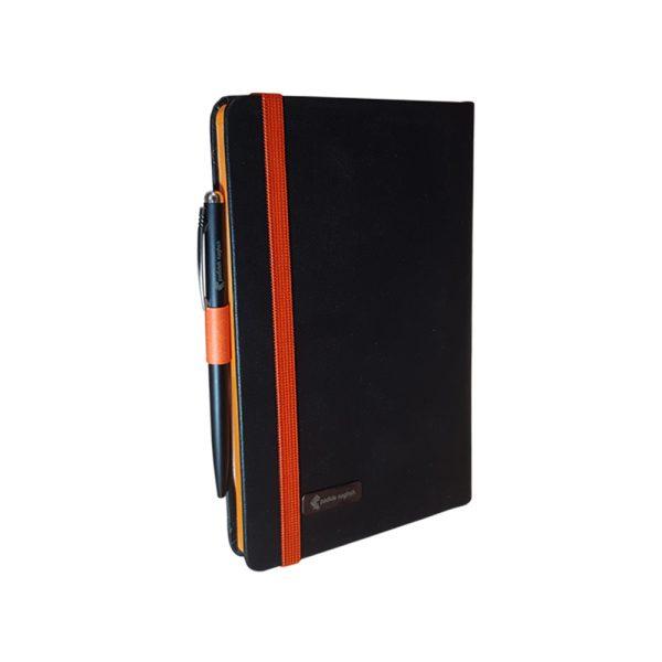 سررسید اروپایی چرمی مدل مداد رنگی همراه با خودکار 11