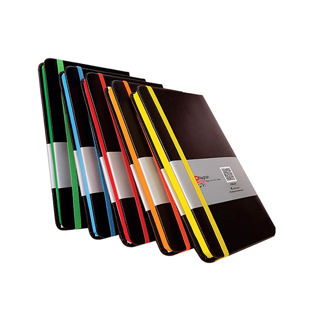 سررسید اروپایی چرمی مدل مداد رنگی
