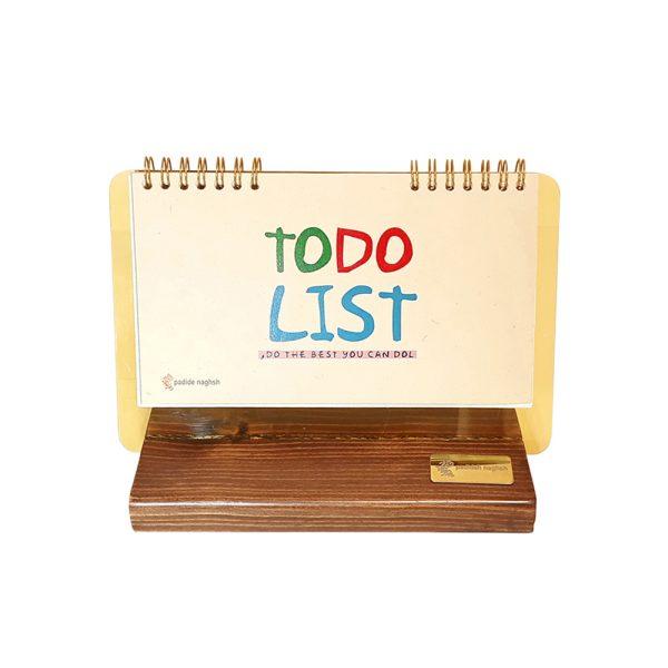 دفتر برنامه ریزی چوبی مدل رومیزی کد 01
