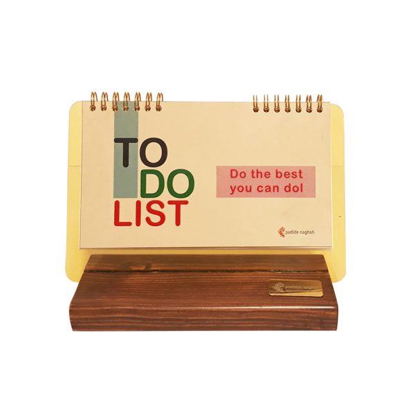 دفتر برنامه ریزی چوبی مدل رومیزی کد 02