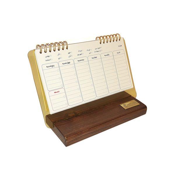 دفتر برنامه ریزی چوبی مدل رومیزی 2