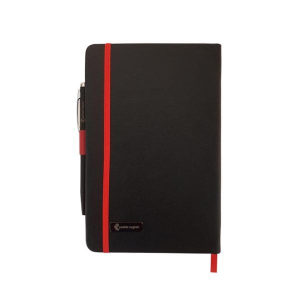 دفتر یادداشت اروپایی مدل مداد رنگی همراه با خودکار 13