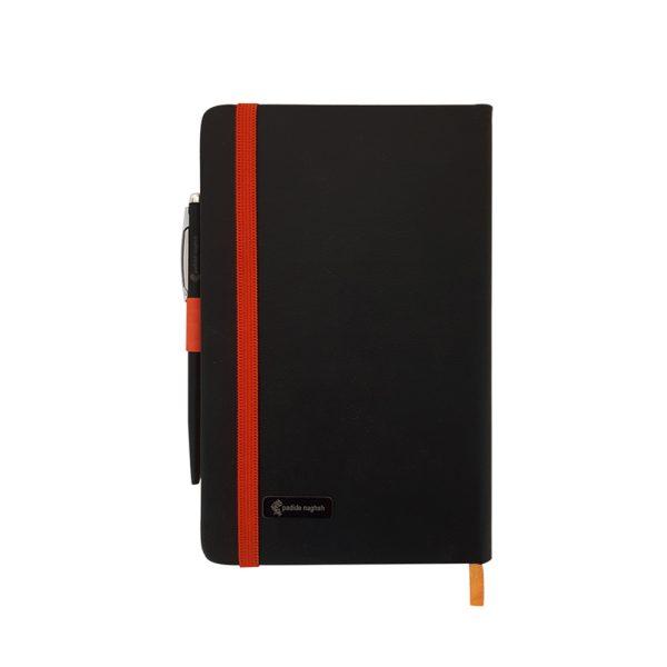 دفتر یادداشت اروپایی مدل مداد رنگی همراه با خودکار 4