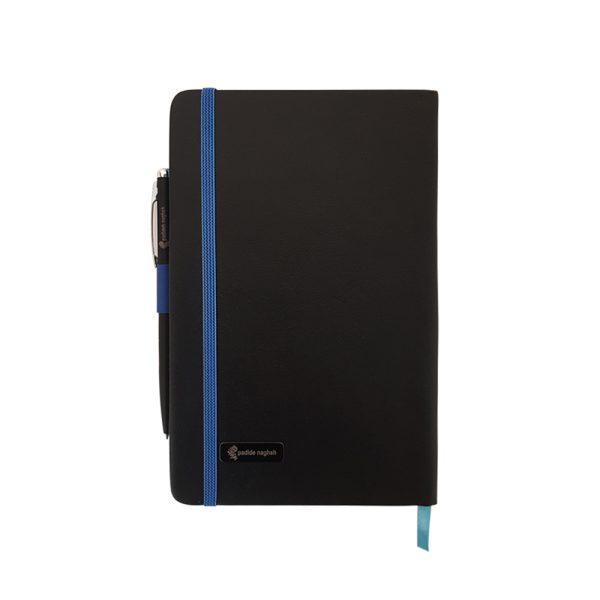 دفتر یادداشت اروپایی مدل مداد رنگی همراه با خودکار 9