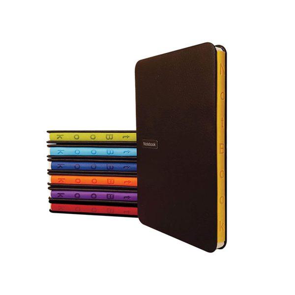 دفتر یادداشت فرانسوی مدل عطف رنگی