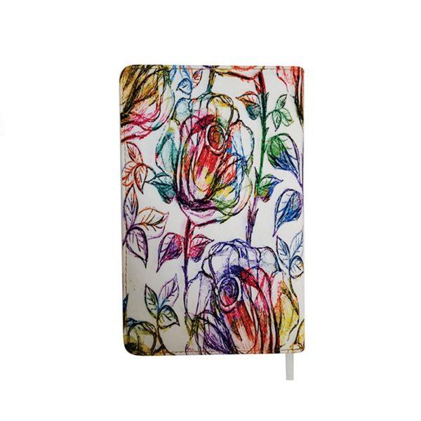 دفتر یادداشت پارچه ای طرح گل