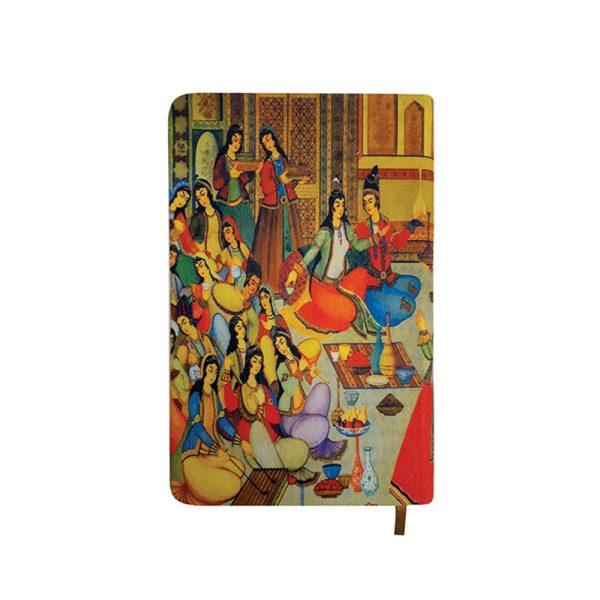 دفتر یادداشت پارچه ای طرح نقاشی روغنی