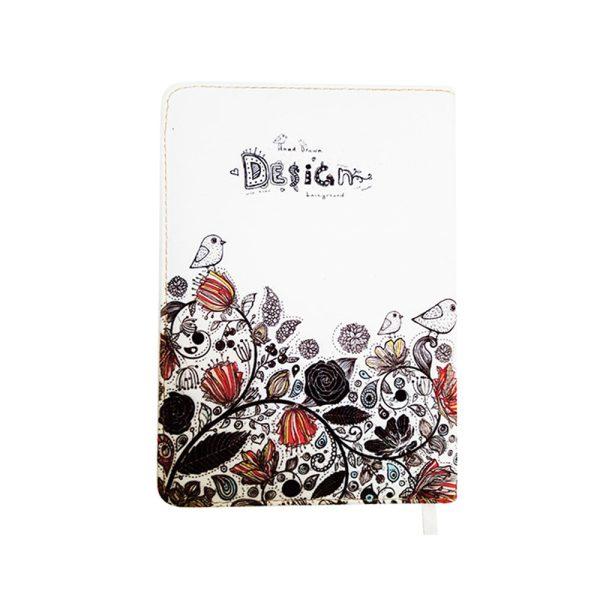 دفتر یادداشت پارچه ای طرح گلدار