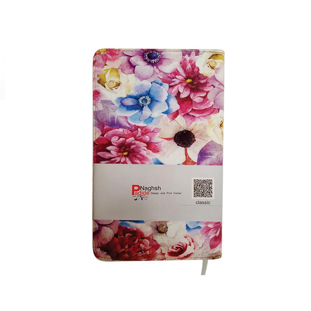 دفتر یادداشت پارچه ای طرح گل رنگی
