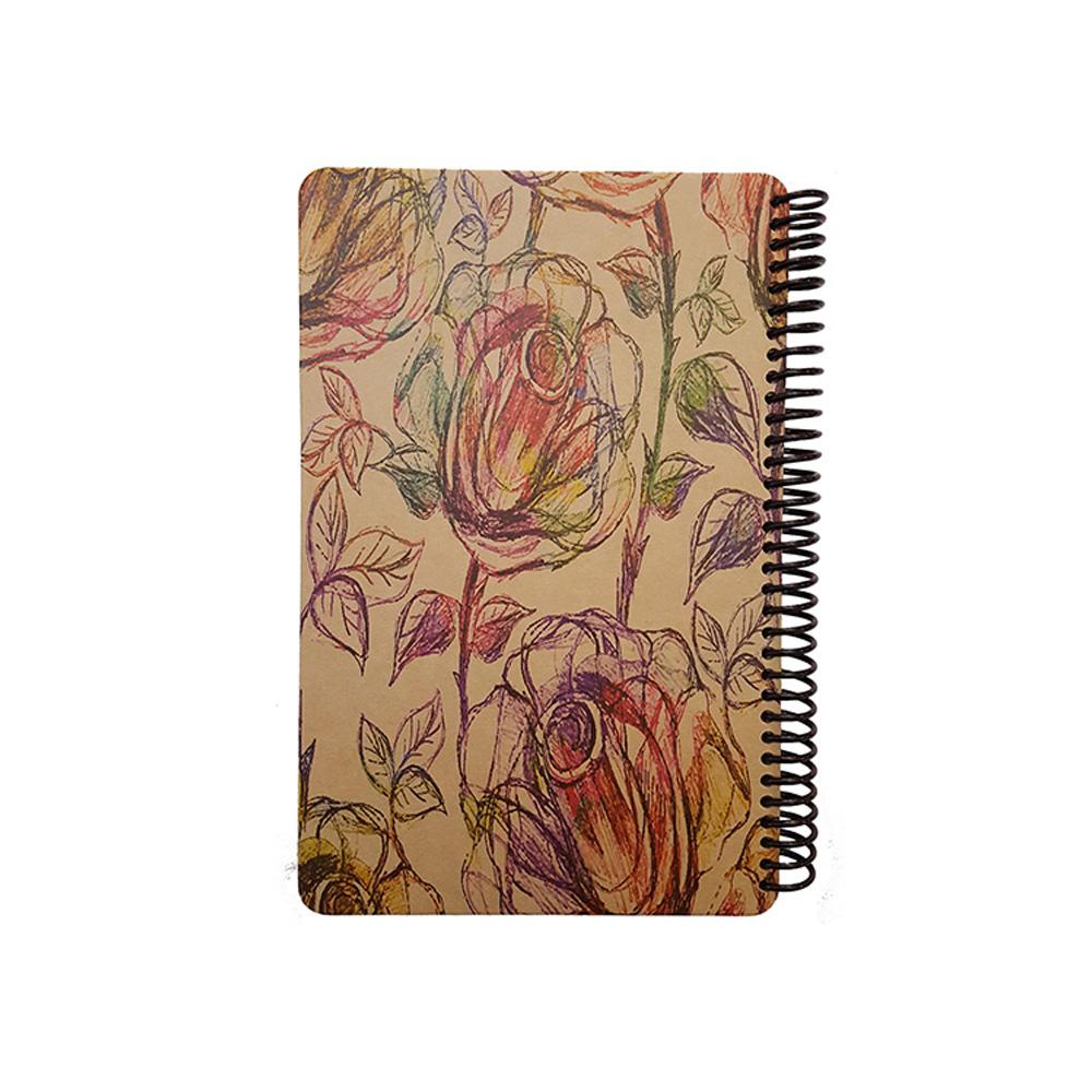 دفتر یادداشت سیمی فانتزی طرح گل