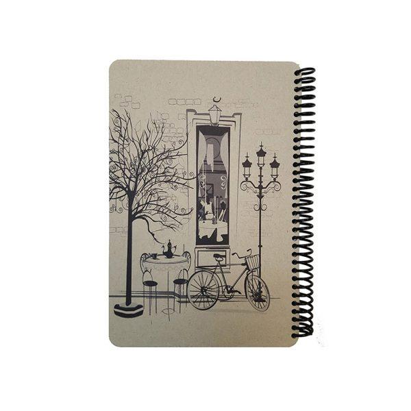 دفتر یادداشت سیمی فانتزی طرح پاریس