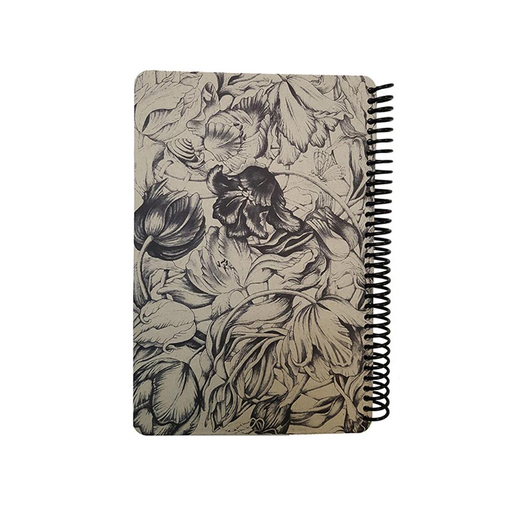 دفتر یادداشت سیمی فانتزی طرح سیاه قلم