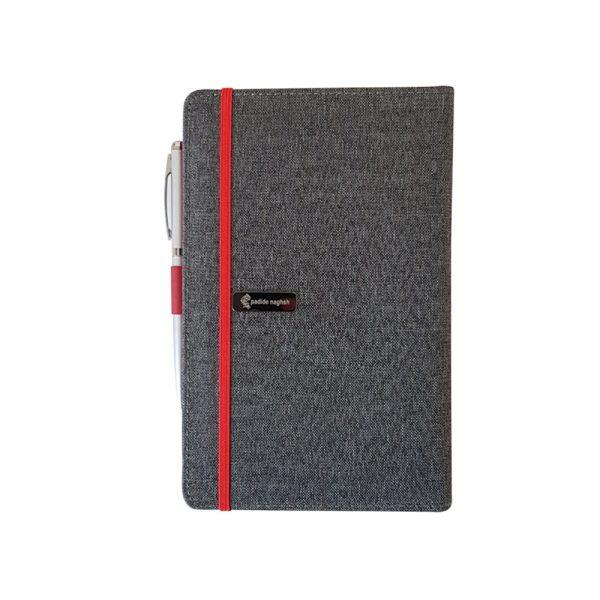 دفتر یادداشت پارچه ای مدل کبریتی همراه با خودکار 10