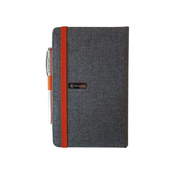 دفتر یادداشت پارچه ای مدل کبریتی همراه با خودکار 2