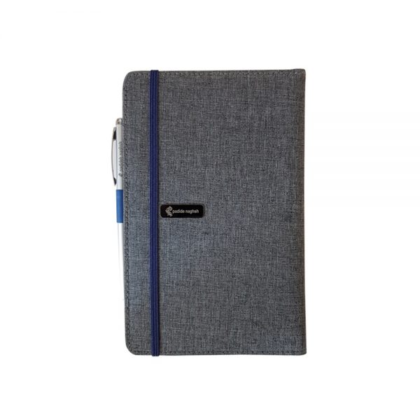 دفتر یادداشت پارچه ای مدل کبریتی همراه با خودکار 5