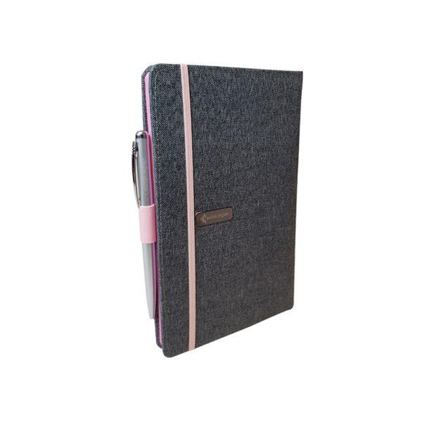 دفتر یادداشت پارچه ای مدل کبریتی همراه با خودکار 6