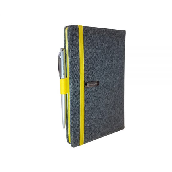 دفتر یادداشت پارچه ای همراه با خودکار