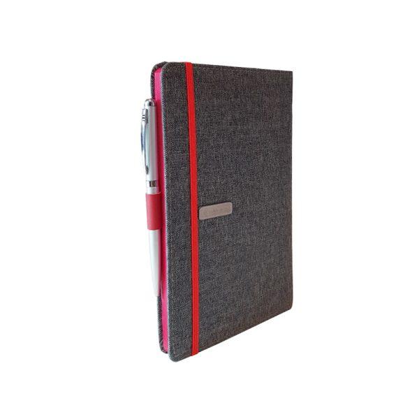 دفتر یادداشت پارچه ای مدل کبریتی همراه با خودکار 9