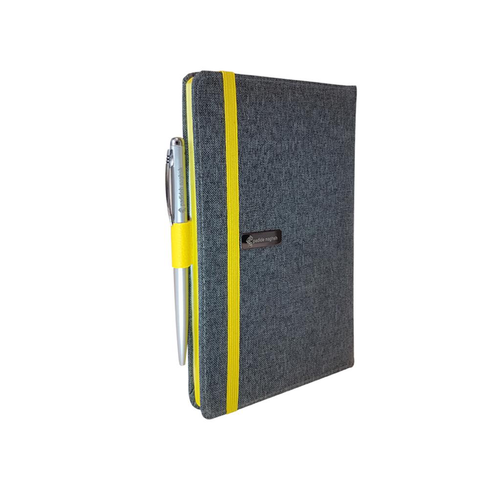 دفتر یادداشت پارچه ای همراه با خودکار مدل کبریتی