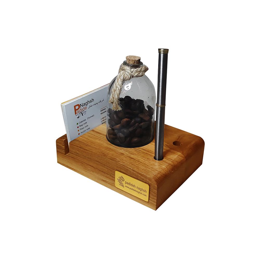 گیفت چوبی رومیزی همراه با رایحه قهوه