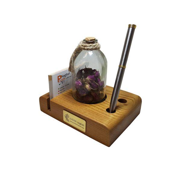 گیفت چوبی رومیزی همراه با رایحه گل سرخ
