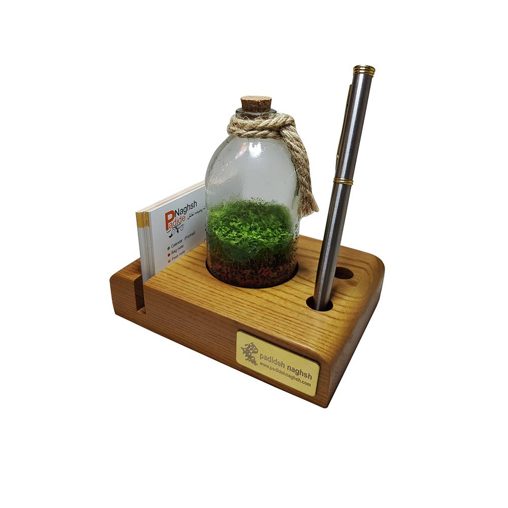 گیفت چوبی رومیزی همراه با رایحه گیاه طبیعی