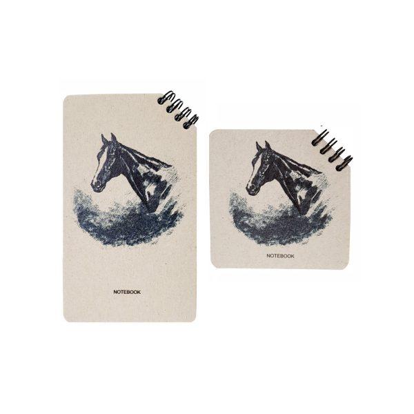 دفتر یادداشت سیمی طرح اسب مدل نوستالژی 1