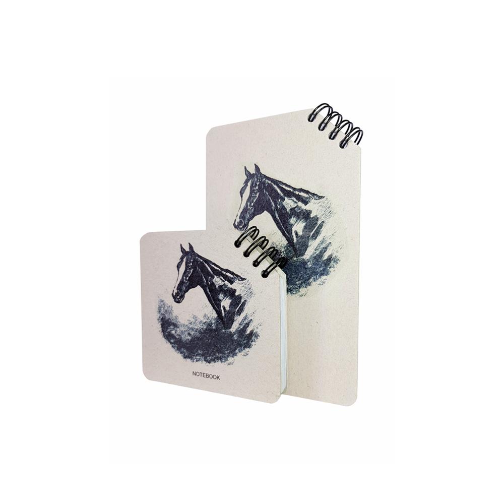 دفتر یادداشت سیمی طرح اسب مدل نوستالژی