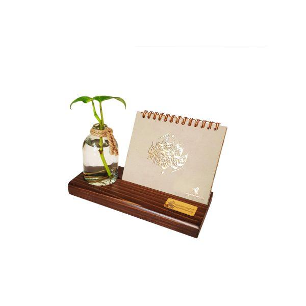 تقویم رومیزی چوبی مدل Plant Place